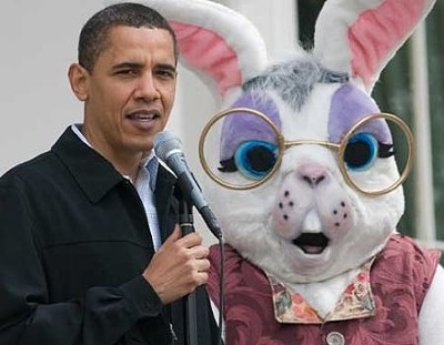 Sorry, the fursuit sucks... Obama needs real furries for his next Easter event.